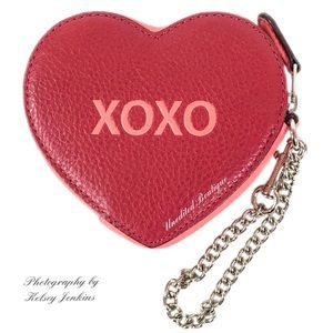 Fashion Womens Coin Purse Valentines Day Red Love Heart Rose Vintage Pouch Mini Purse Wallets